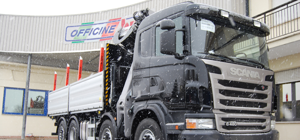 Allestimento camion trasporto legnami