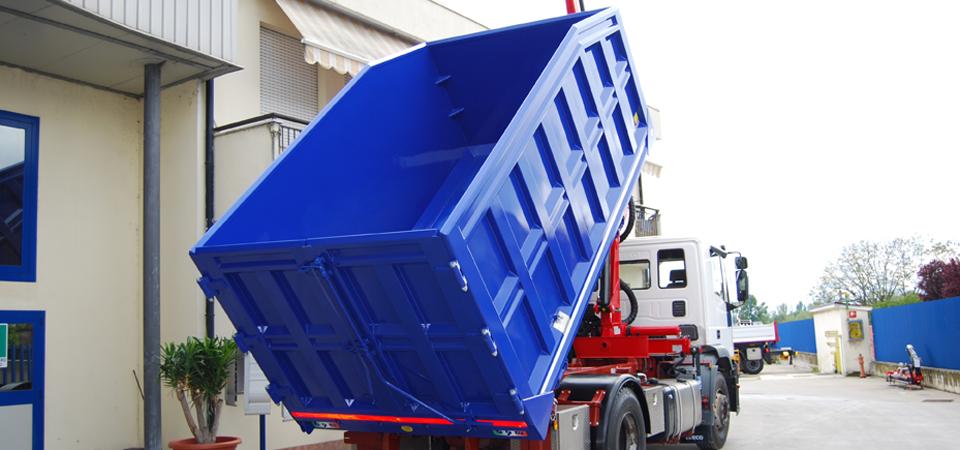 Cassone leggero e resistente - Allestimento per trasporto rottami metallici