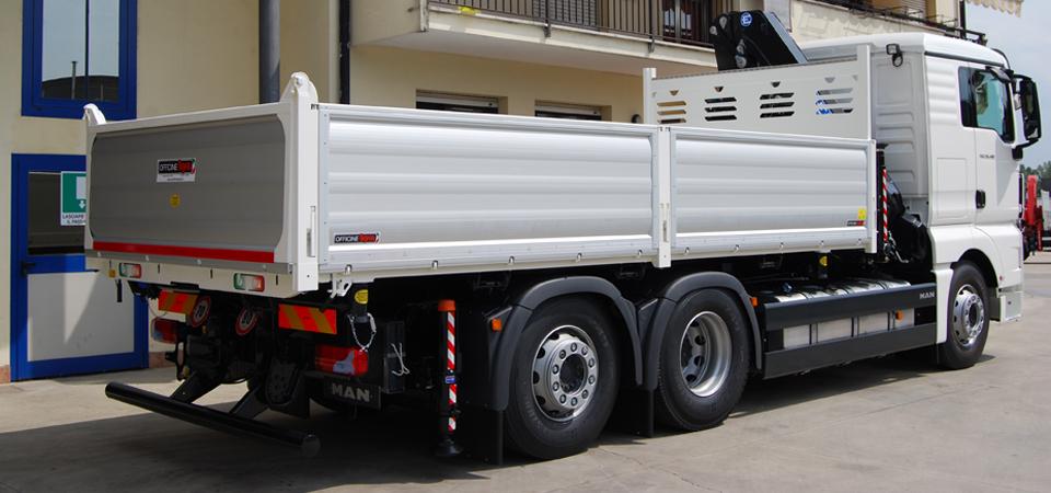 Allestimenti per trasporto di inerti ed attrezzature edili