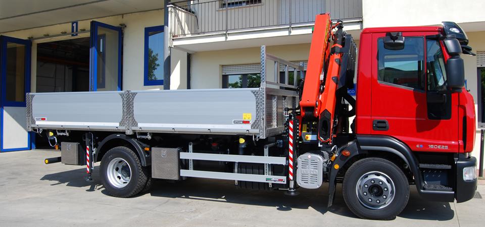 Allestimento camion per trasporto laterizi a livello nazionale
