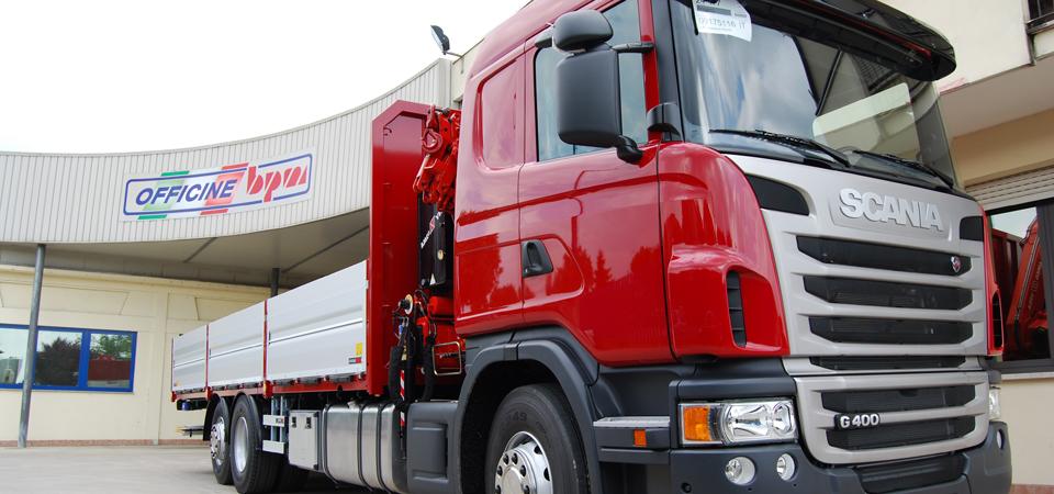Allestimento per trasporti su cantieri edili, magazzini e depositi