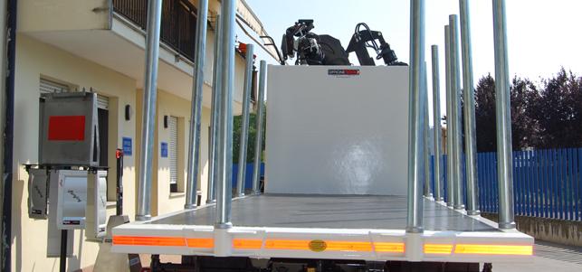 piano di carico camion in acciaio anti-usura