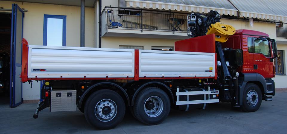 Allestimento per trasporto legno e derivati