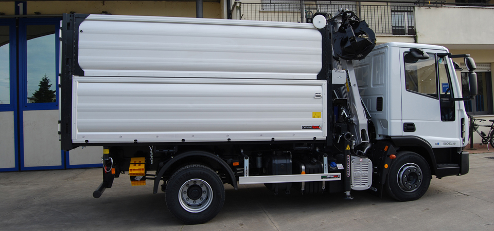 Allestimento per trasporto inerti e rifiuti vari