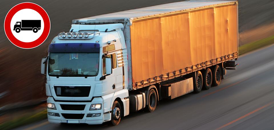 I divieti di circolazione dell'estate 2014 per i Camion.