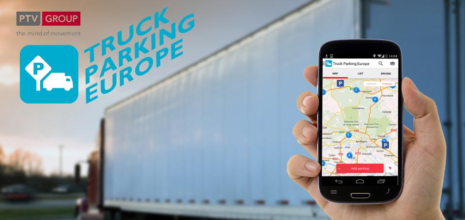 Una nuova versione per l'App Truck Parking Europe: tutte le aree di sosta nel palmo di una mano.