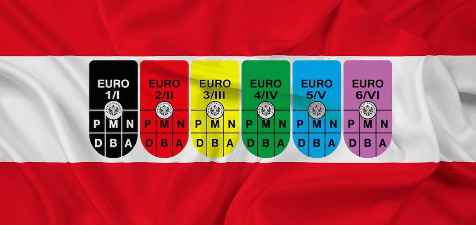 Obbligatoria dal 2015 l'esposizione del bollino Euro su territorio Austriaco. In caso di omissione, previste pesanti sanzioni.