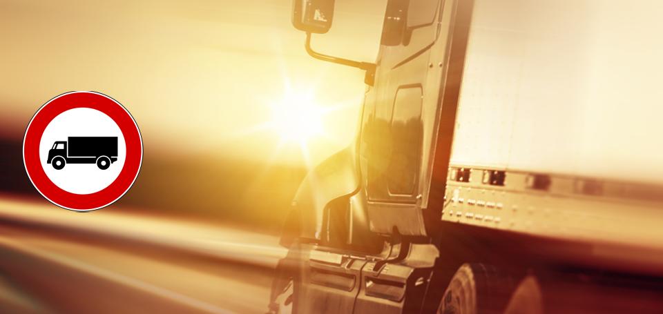 I blocchi per Camion e TIR dell'estate 2015 (mesi di luglio e agosto e settembre)
