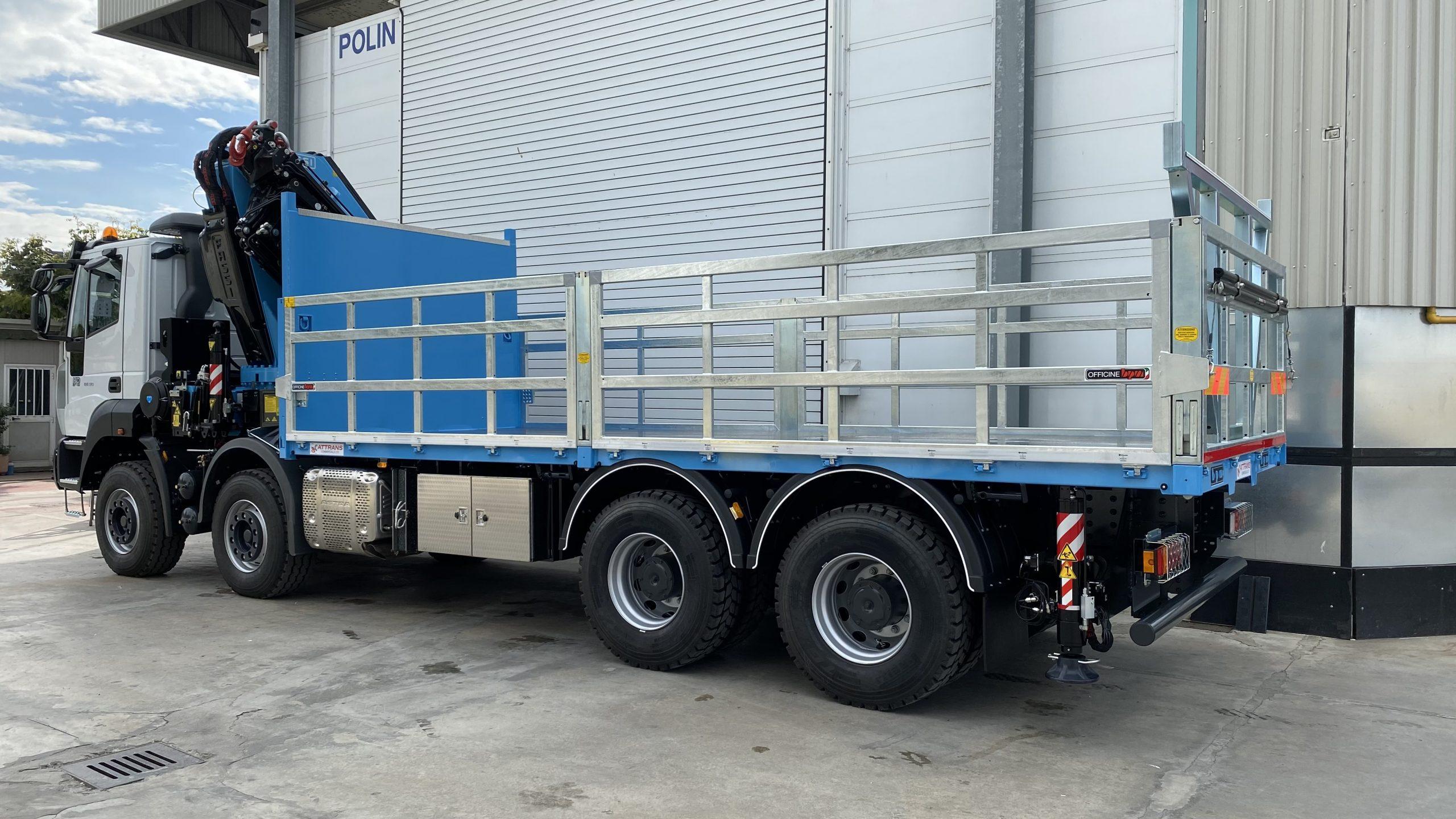 allestimenti camion per trasporto di mattoni