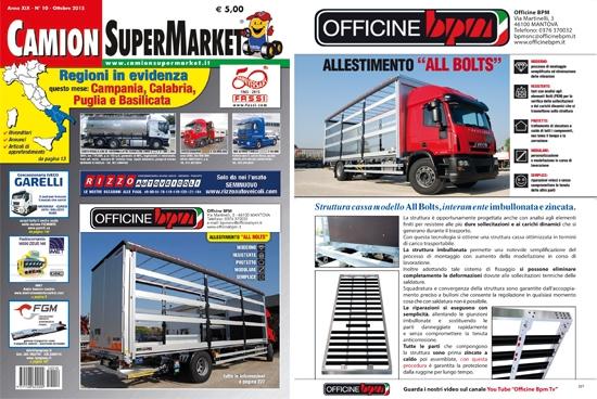 Officine BPM in copertina su Camion Super Market!